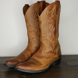 Ariat Western Brown Leather Cowboy Boots size 13